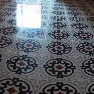 Cristalizar suelo de mosaico hidráulico