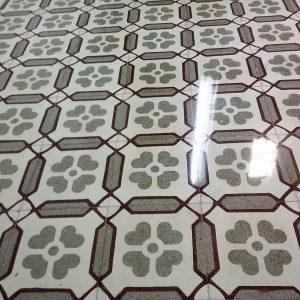 Pulir mosaico hidráulico